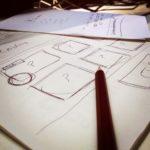 Skizze Entwurf Webseite